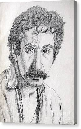 Study Of Jim Croce Canvas Print by Julie Coughlin