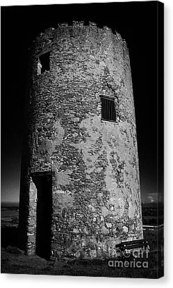 Stump Remains Of Portaferry Windmill On Windmill Hill Portaferry Ards Peninsula County Down  Canvas Print by Joe Fox