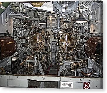 Submarine Torpedo Room - Pearl Harbor Canvas Print by Daniel Hagerman