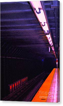 Subway Silence Canvas Print by Gwyn Newcombe