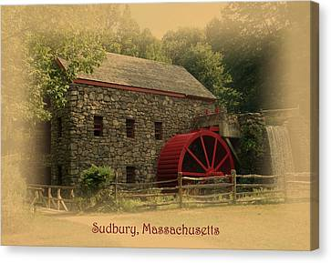 Sudbury Grist Mill Canvas Print by Patricia Urato