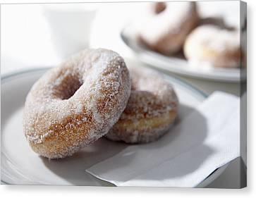 Sugar Coated Donuts Canvas Print by Bruce Law