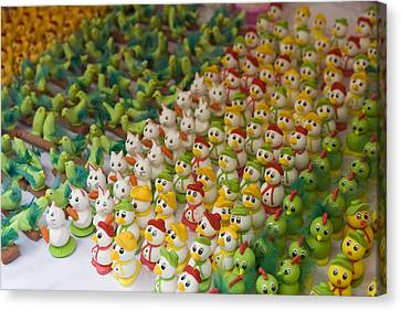 Sugar Figurines For Sale At The Day Canvas Print by Krista Rossow