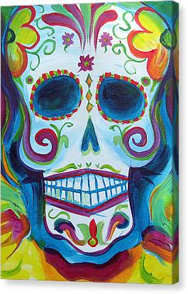 Sugar Skull Canvas Print by Janet Oh