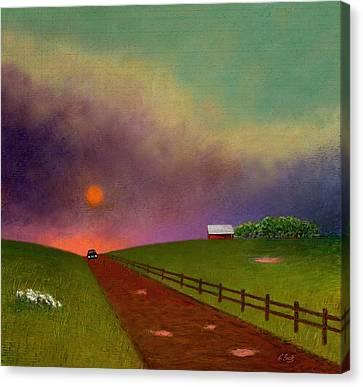 Summer Dustup Canvas Print by Gordon Beck