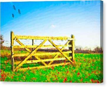 Summer Scene Canvas Print by Tom Gowanlock
