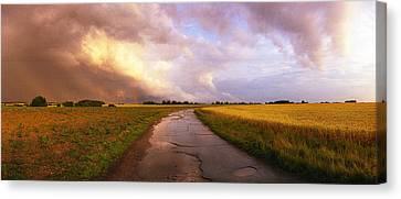 Summer Storm Raf Lavenham Canvas Print by Jan Faul