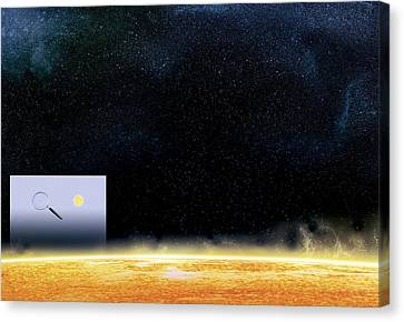 Sun And Betelgeuse, Artwork Canvas Print by Claus Lunau