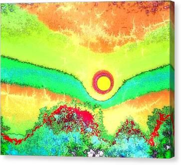 Sun Crackle Canvas Print by Kay Sawyer
