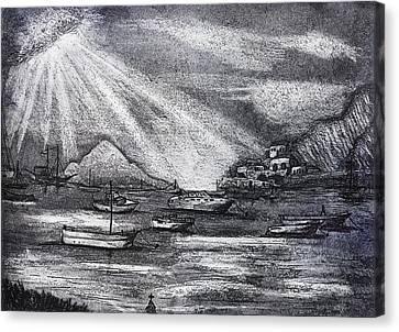 Sun Rays Canvas Print by David Ter-Avanesyan