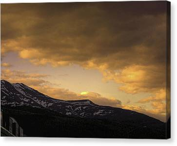 Sun Set Eagle River Canvas Print by Grover Woessner