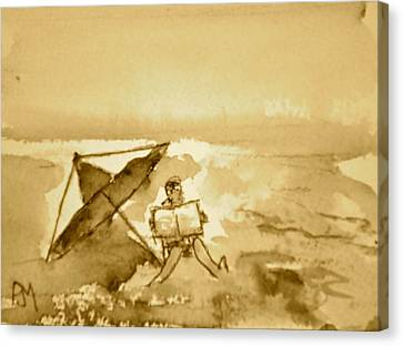 Sunday Mornin Sepia Canvas Print by Pete Maier