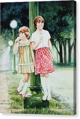 Sunday Treat Canvas Print by Hanne Lore Koehler