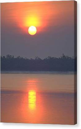 Sunderbans Sunrise Canvas Print by Copyright Wild Vanilla