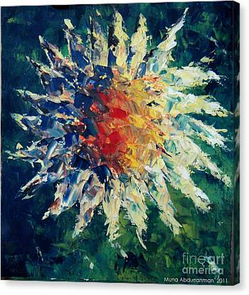 Sunflower Canvas Print by Muna Abdurrahman