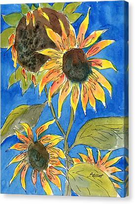 Sunflowers Canvas Print by Marsha Elliott