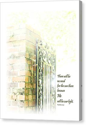 Sunlight On Brick Wall Canvas Print by Faye Robeson