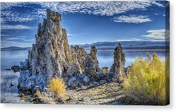 Sunlit Tufa Canvas Print by Stephen Campbell