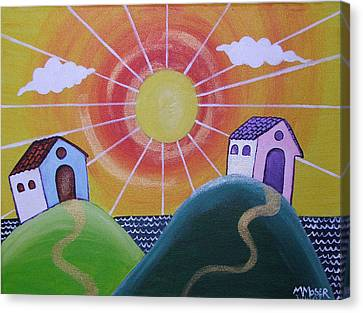 Sunny Canvas Print by Monica Moser
