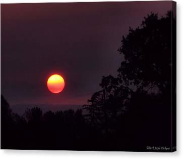 Sunrise  09 25 12 Canvas Print by Joyce Dickens