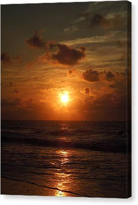 Sunrise At Myrtle Beach South Carolina Canvas Print by Chad and Stacey Hall