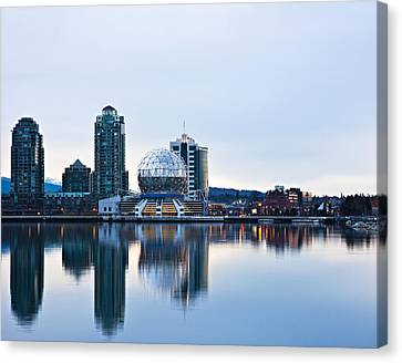 Sunrise In Vancouver Canvas Print by Marion McCristall