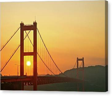 Sunrise On Hirado Bridge Canvas Print by Kurosaki San