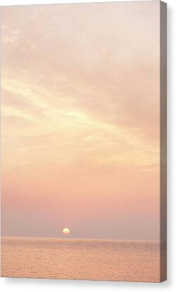 Sunrise Over Sea Canvas Print by Photo by Dylan Goldby at WelkinLight Photography