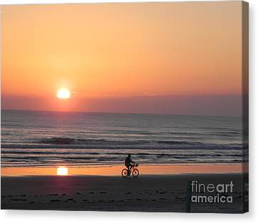 Sunrise Reflection Canvas Print by Sandy Owens