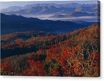 Sunrise View From Meadow Creek Lookout Canvas Print by Raymond Gehman