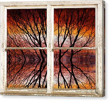 Sunset Abstract Rustic Picture Window View Canvas Print by James BO  Insogna