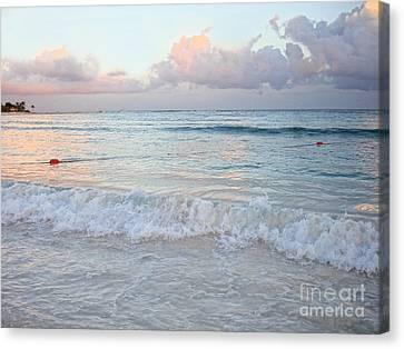 Sunset At The Beach Yucatan Peninsula Mexico Canvas Print by Renata Ratajczyk