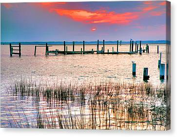 Sunset Bay Iv Canvas Print by Steven Ainsworth