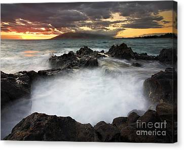 Sunset Boil Canvas Print by Mike  Dawson