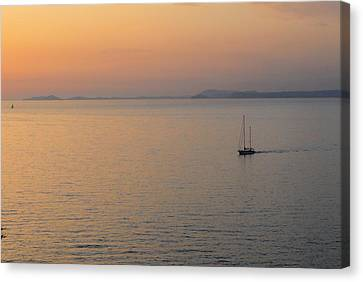 Sunset Cruise Canvas Print by