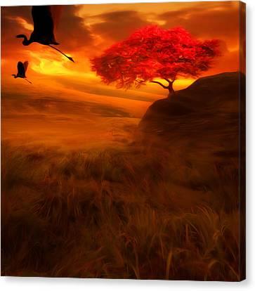 Sunset Duet Canvas Print by Lourry Legarde