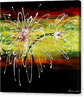 Sunset Flowers Canvas Print by Kume Bryant