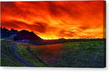 Sunset Canvas Print by Hemendra Pratap