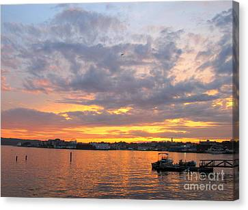 Sunset In Glouchester Canvas Print by B Rossitto