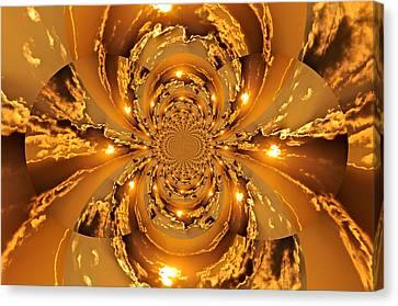 Sunset Kaleidoscope 4 Canvas Print by Marty Koch