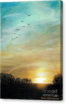 Sunset Canvas Print by Muna Abdurrahman