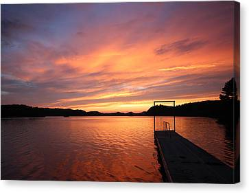 Sunset On Chilhowee Canvas Print by Christopher Ewing