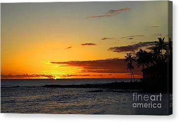 Sunset On Kauai Canvas Print by Dana Kern