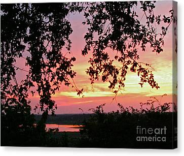 Sunset Over Canyon Lake Canvas Print by Randi Shenkman