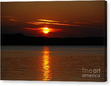 Sunset Over Silver Lake Sand Dunes Canvas Print by Grace Grogan