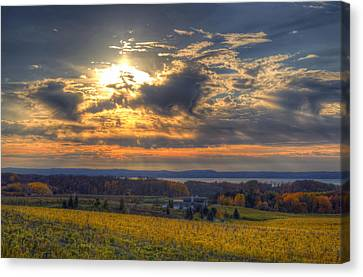 Sunset Over The Bay Canvas Print by Twenty Two North Photography
