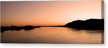Sunset Over The Danube ... Canvas Print by Juergen Weiss