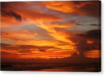 Sunset Playa Hermosa Costa Rica Canvas Print by Michelle Wiarda