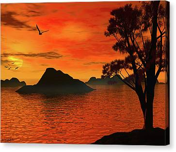 Sunset Serenade Canvas Print by Lourry Legarde