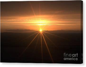 Sunset Star Canvas Print by Stephen Clarridge